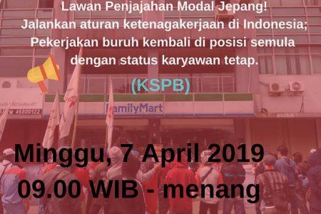 7 April 2010: KSPB Demo FamilyMart, Toyota dan Mitsubishi