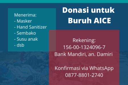 Donasi untuk Buruh AICE